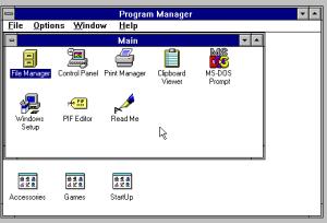 Windows system menu